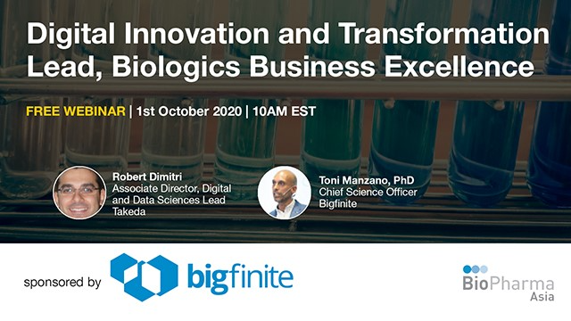 Digital Innovation and Transformation Lead, Biologics Business Excellence