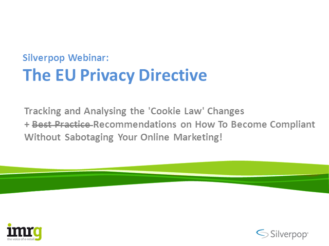 The EU Privacy Directive: Tracking & analysing the 'cookie law' changes