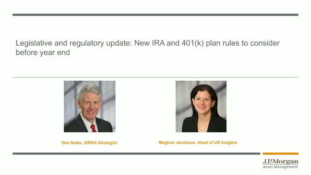 New IRA and 401(k) Plan Rules To Consider Before Year End