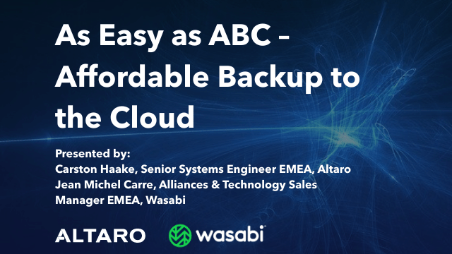 As Easy as ABC - Affordable Backup to the Cloud