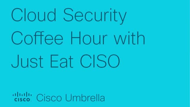 Cloud Security Coffee Hour with Just Eat CISO, Kevin Fielder