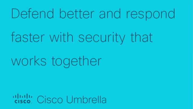 Defend better and respond faster with security that works together