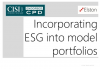 CPD: Incorporating ESG into model portfolios