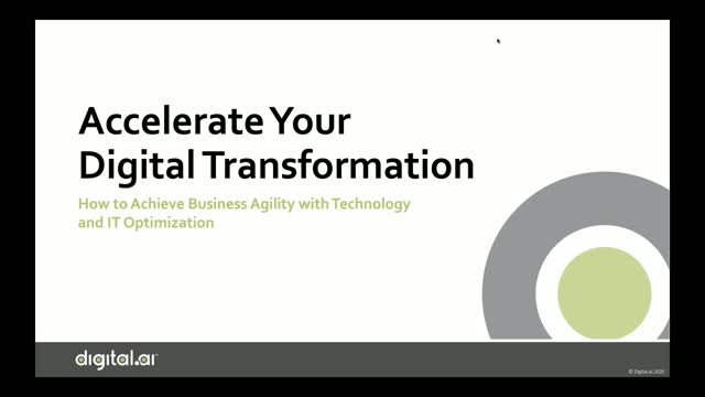 Accelerate Your Digital Transformation: Achieve Business Agility with Technology