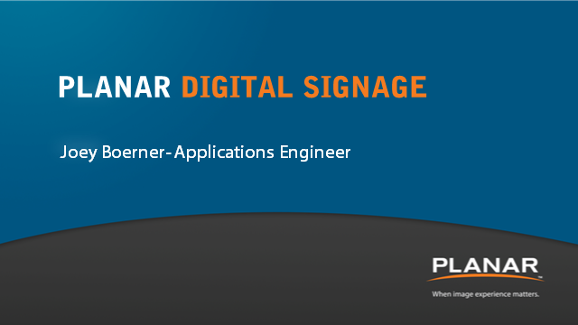 Unique Digital Signage Solutions for Even the Most Demanding Applications