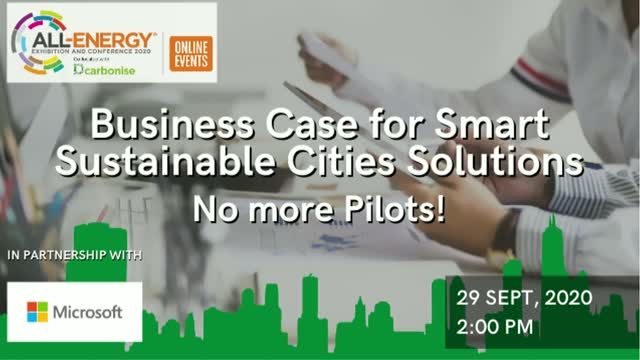 Business Case for Smart Sustainable Cities Solutions – No more Pilots!