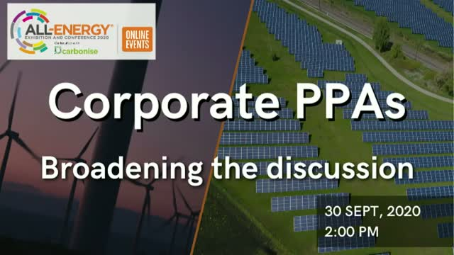 Corporate PPAs: Broadening the discussion
