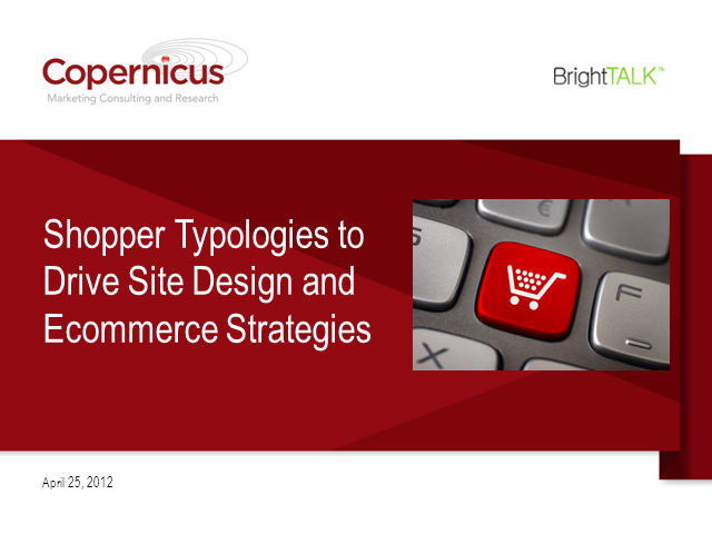 Shopper Typologies for Ecommerce