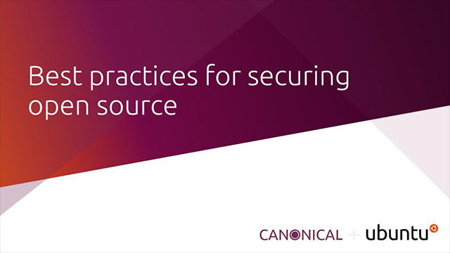 Best practices for securing open source