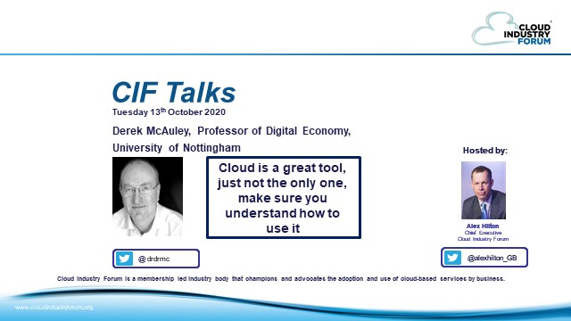 CIF Talks: Cloud Is a Great Tool - Make Sure You Understand How To Use It!