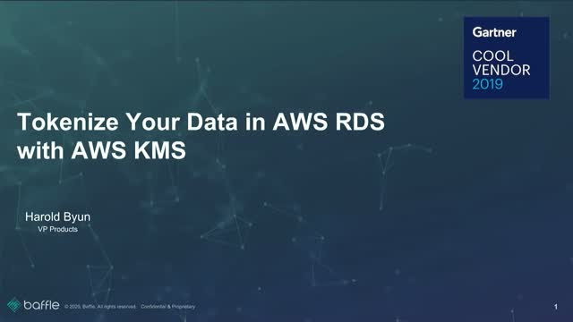 Tokenize Your Data in AWS RDS with AWS KMS