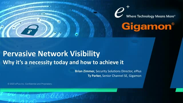 Pervasive Network Visibility: Why it's a necessity today and how to achieve it