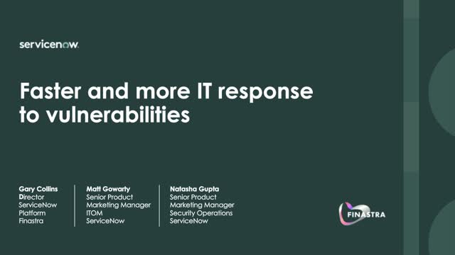 Finastra best practices: Fast and efficient IT response to vulnerabilities