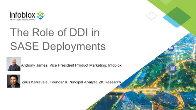 The Role of DDI in SASE Deployments (APAC)