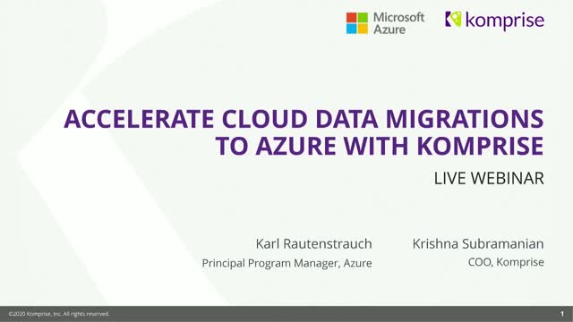 Accelerate Cloud Data Migrations to Azure with Komprise
