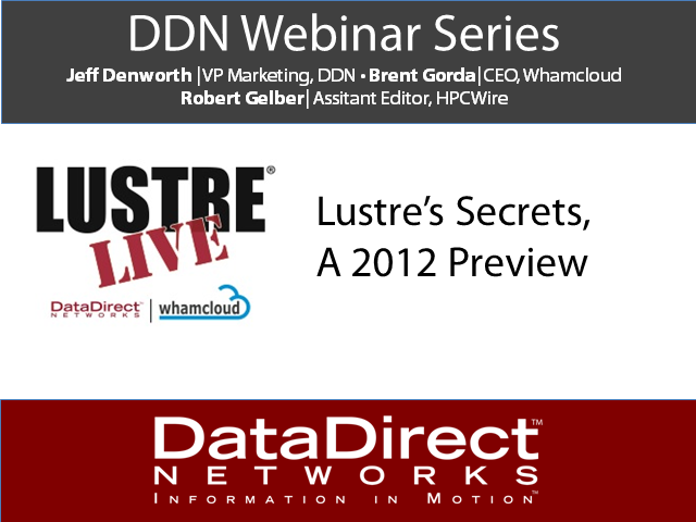 Lustre Live Series: Lustre's Secrets, A 2012 Preview