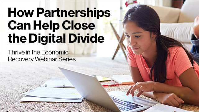 How partnerships can help close the digital divide
