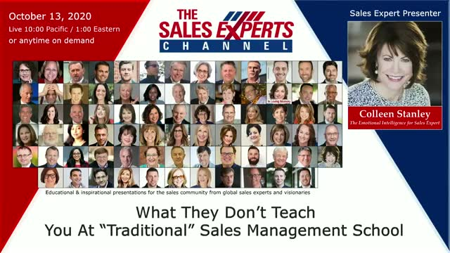 "What They Don't Teach You At ""Traditional"" Sales Management School"