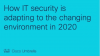 How IT security is adapting to the changing environment in 2020