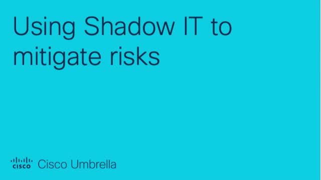 Using Shadow IT to mitigate risks
