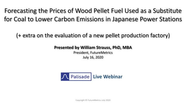 Forecasting the Prices of Wood Pellet Fuel in Japanese Power Stations