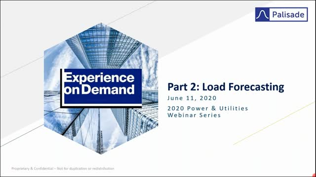 Power and Utilities Part 2 - Load and Market Price Forecasting