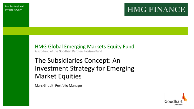 The Subsidiaries Concept: An Investment Strategy for Emerging Market Equities