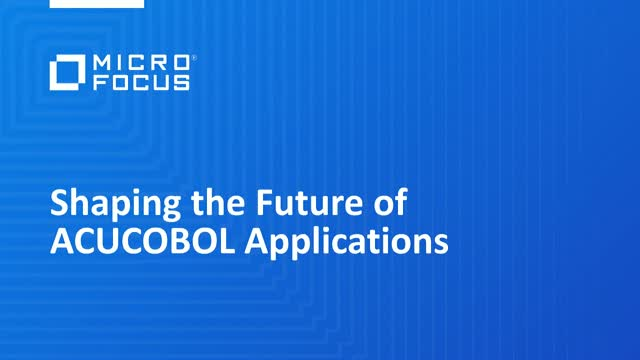Shaping the Future of ACUCOBOL applications