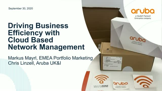 UK&I market:Driving Business Efficiency with Cloud Based Network Management
