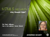 HTML5 Security - Why should I care?
