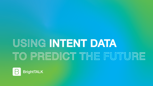 Using Intent Data to Predict the Future