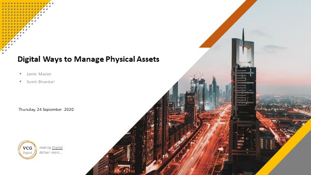 Asset Management - the digital way to manage physical assets
