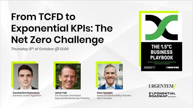 From TCFD to Exponential KPIs: The Net Zero Challenge.