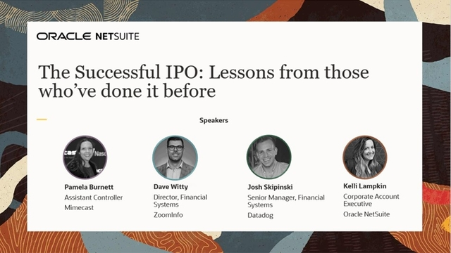 The Successful IPO: Lessons from those who've done it before
