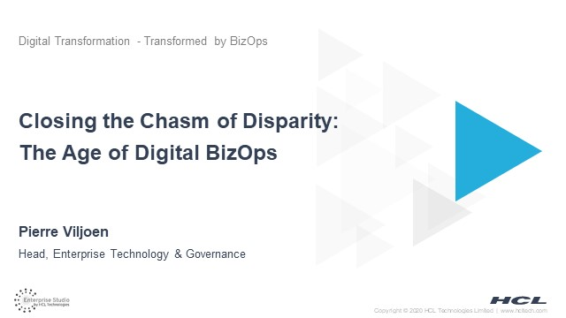 Closing the Chasm of Disparity: The Era of BizOps