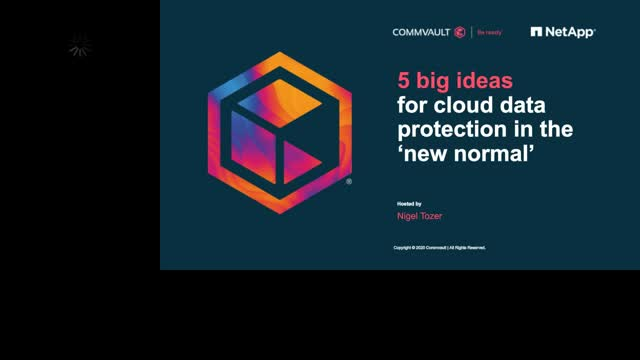 5 big ideas for cloud data protection in the 'new normal'