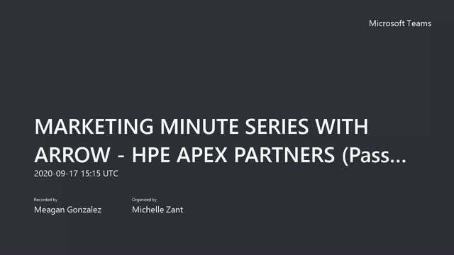 MARKETING MINUTE SERIES WITH ARROW #4