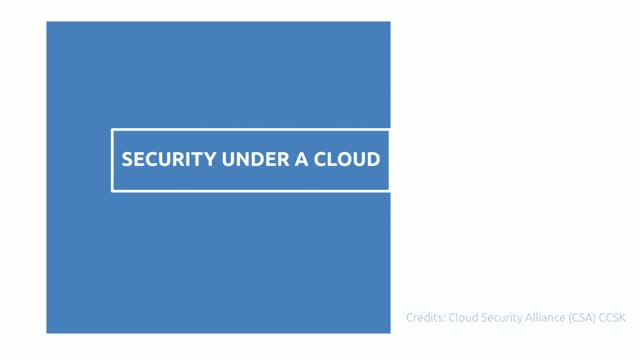 SECURITY UNDER A CLOUD