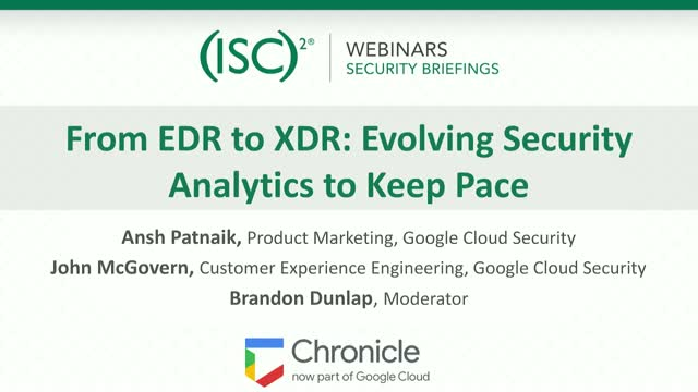 Chronicle #2: From EDR to XDR: Evolving Security Analytics to Keep Pace