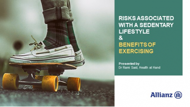 Risks of a sedentary lifestyle & benefits of exercising