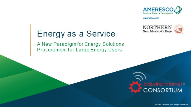 Energy as a Service: A New Paradigm for Energy Solutions Procurement