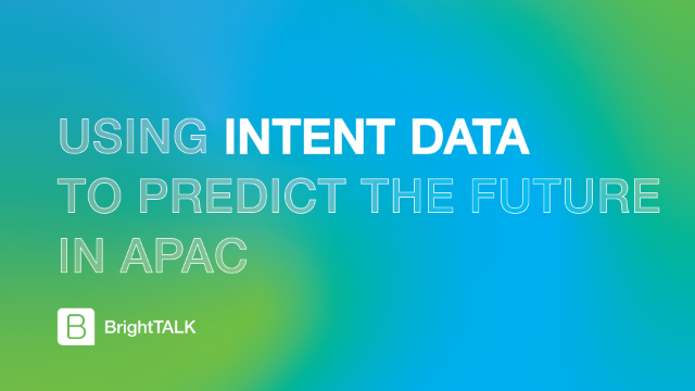 Using Intent Data to Predict the Future in APAC