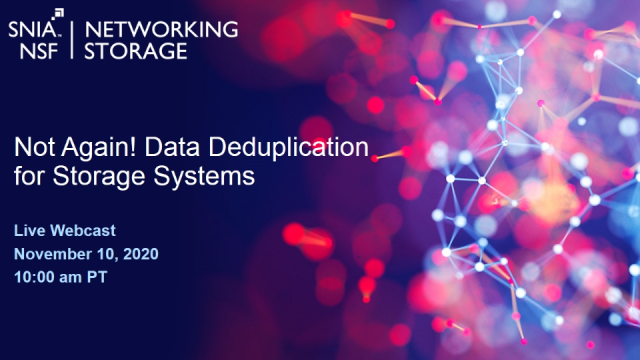 Not Again! Data Deduplication for Storage Systems