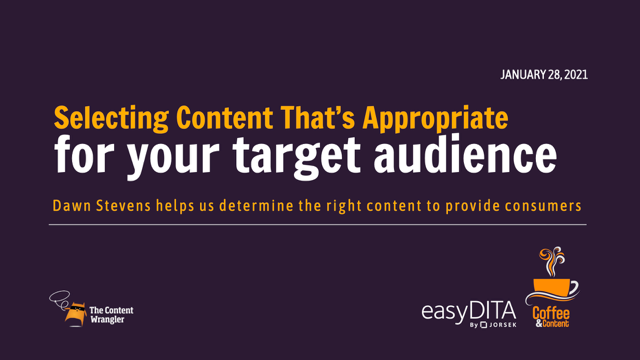 Coffee and Content: Selecting Content That's Appropriate for Your Audience