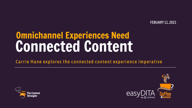 Coffee and Content: Omnichannel Experiences Need Connected Content