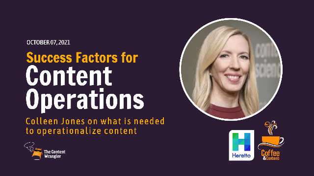 Coffee and Content: Success Factors for Content Operations