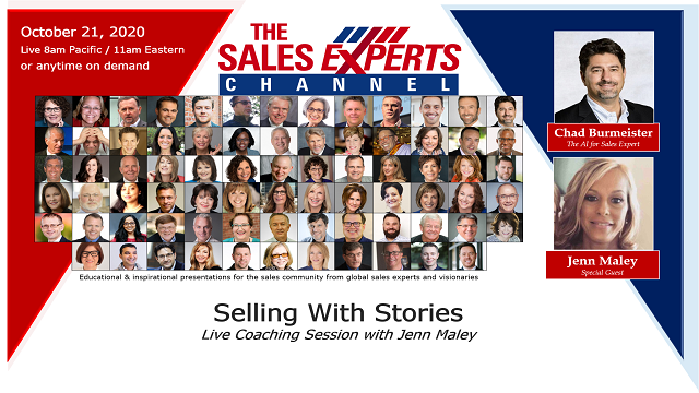 Selling With Stories - Live Coaching Session w/Jenn Maley