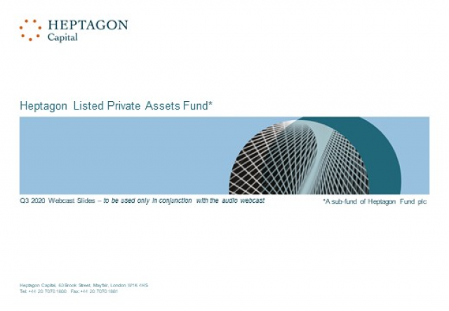 Heptagon Listed Private Assets Fund Q3 2020 Webcast
