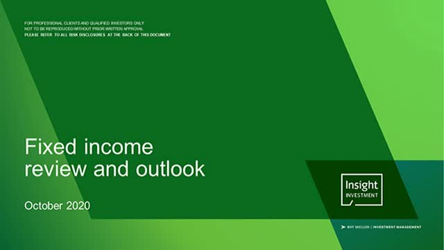 Fixed income review and outlook - October 2020