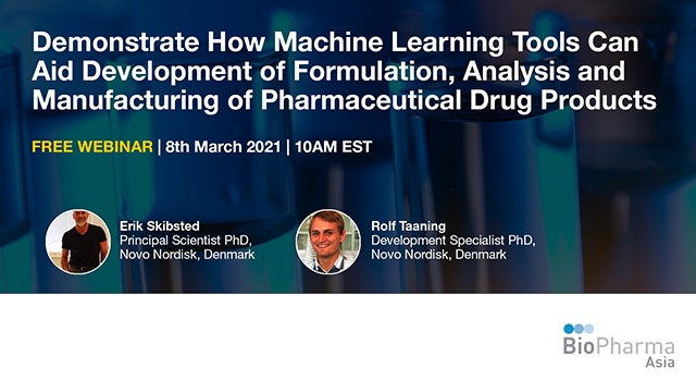 Demonstrate how machine learning tools can aid development of formulation...